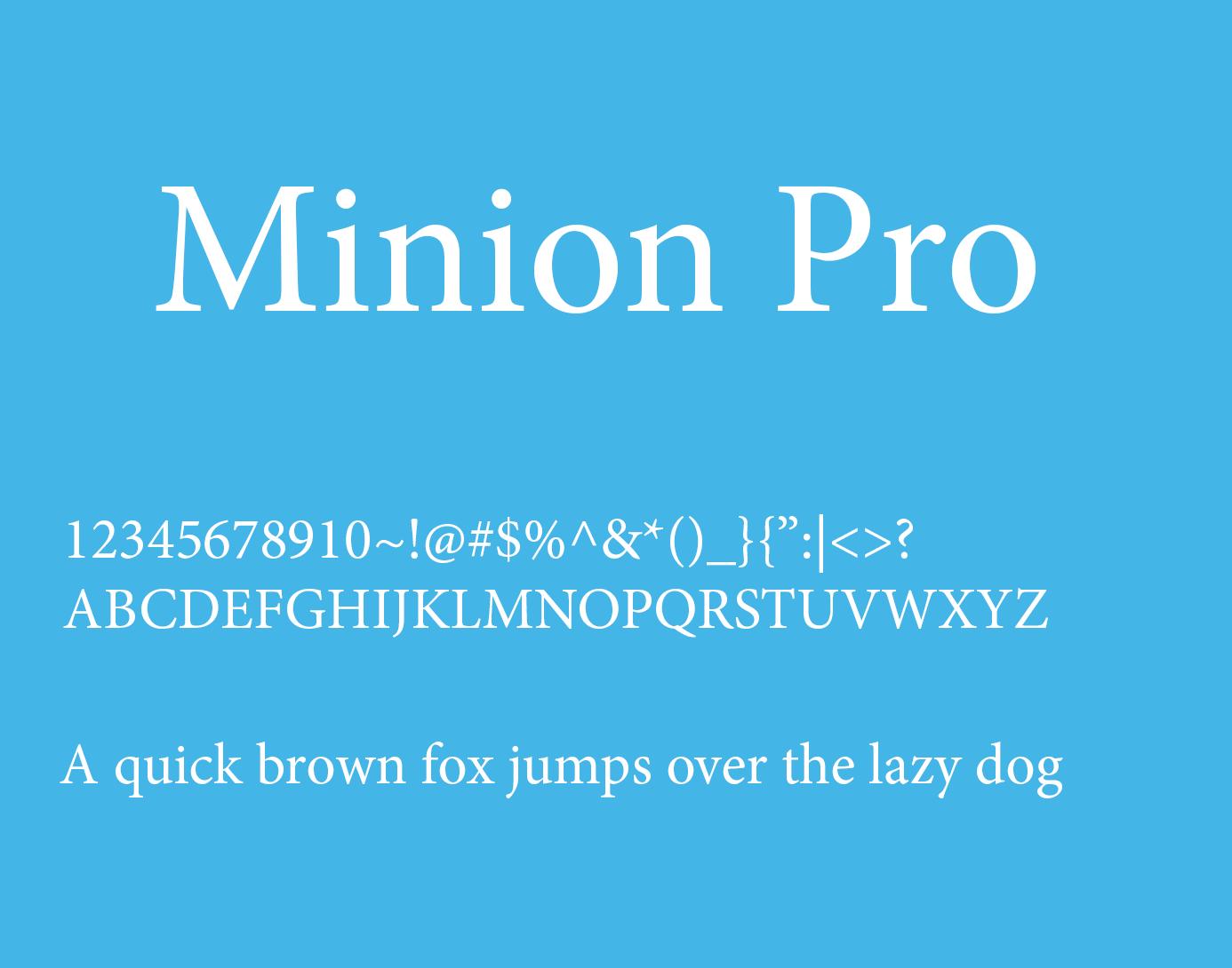 minion pro font family download