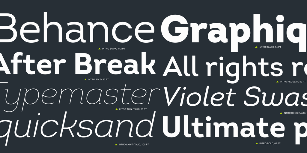 intro font free