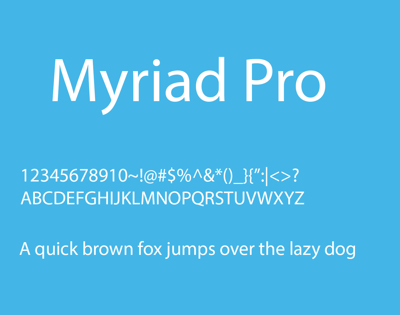 Myriad pro light: download for free, view sample text, rating and.