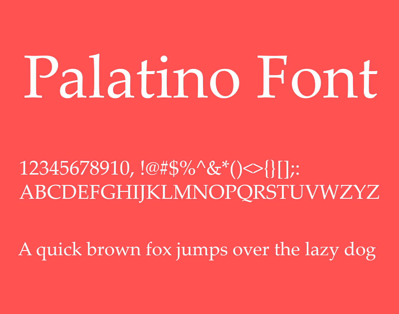 Palatino Font Free Download - Free Fonts