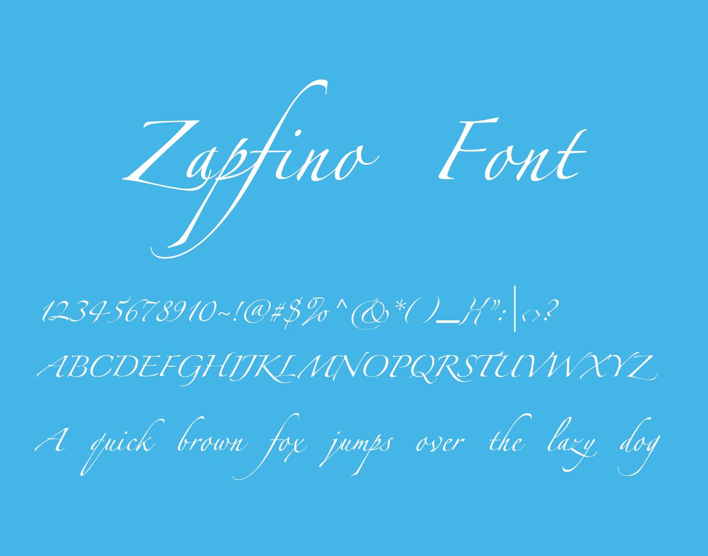 schriftart zapfino