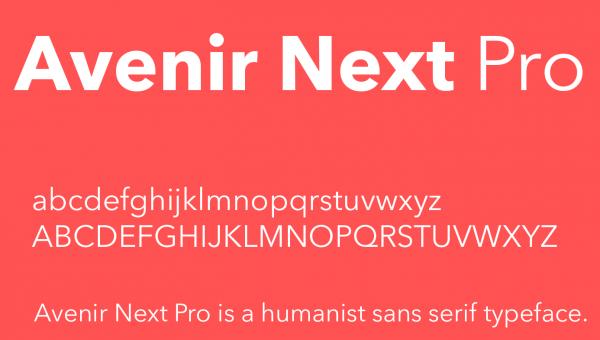 Avenir Next Font Free