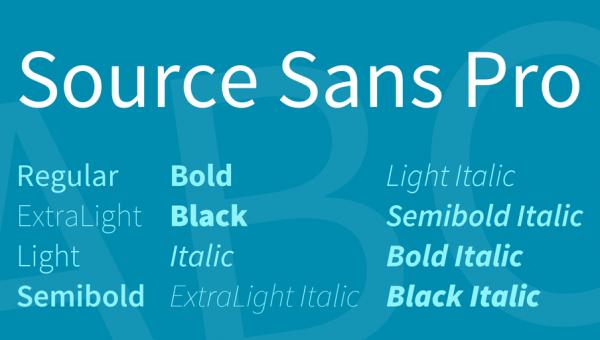 Source Sans Pro Font Family Free Download
