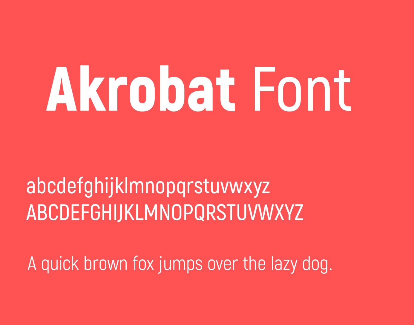 Akrobat Font Free Download