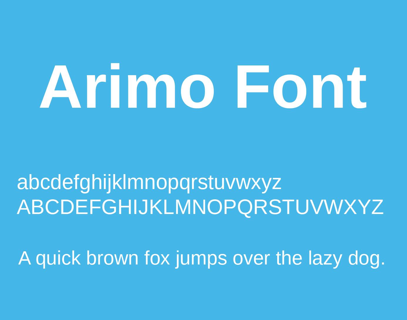 arimo-font