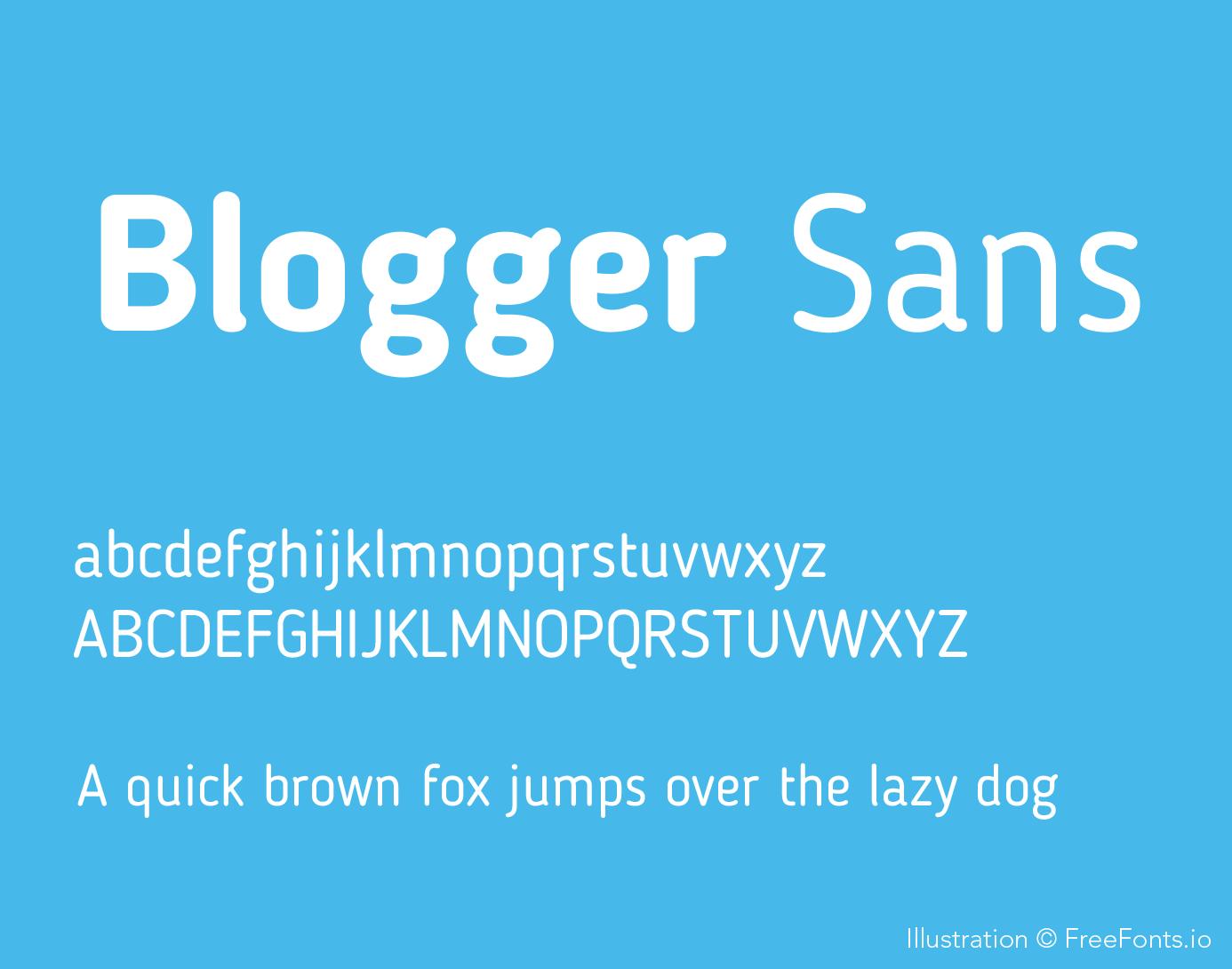 blogger-sans-font