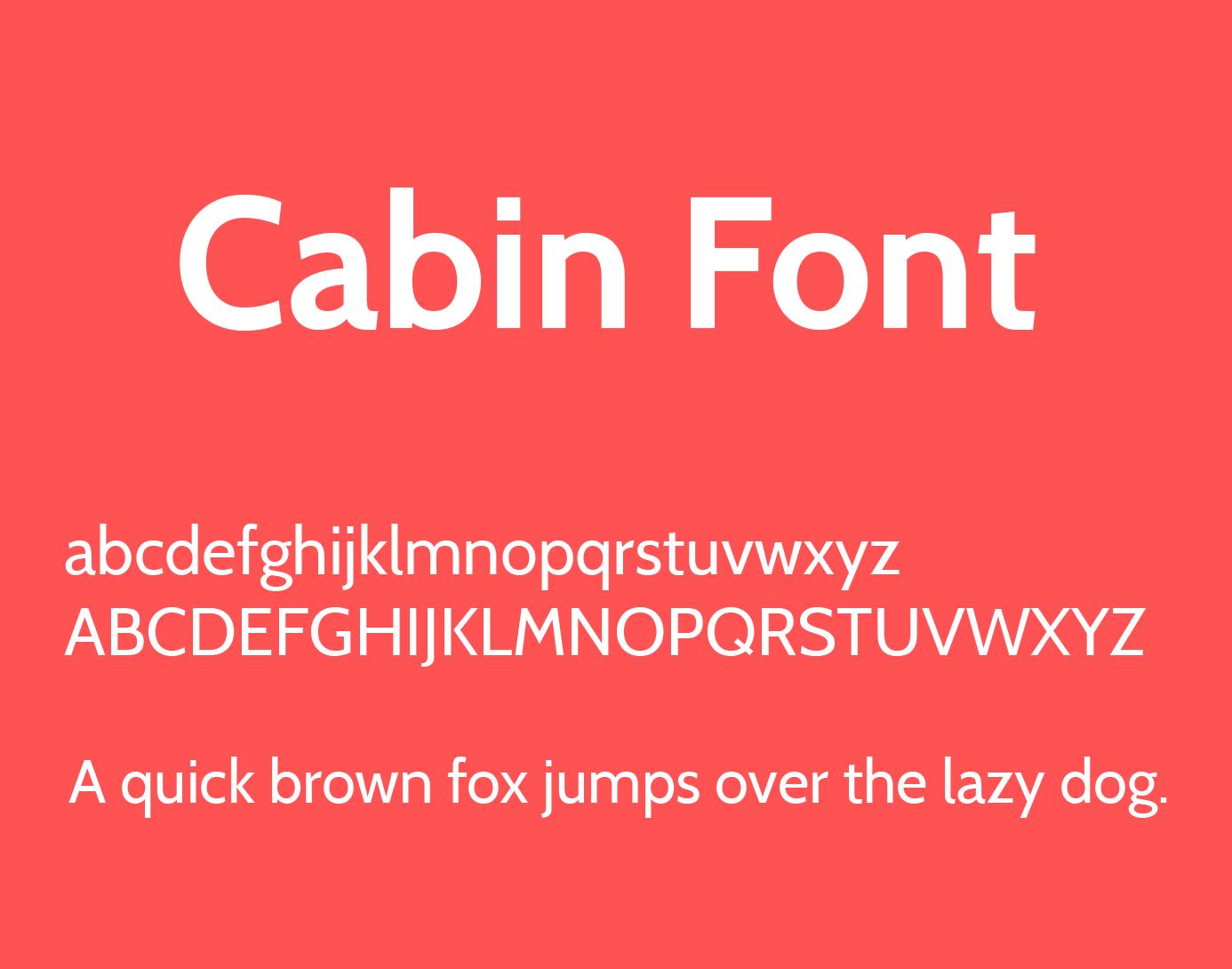 cabin-font