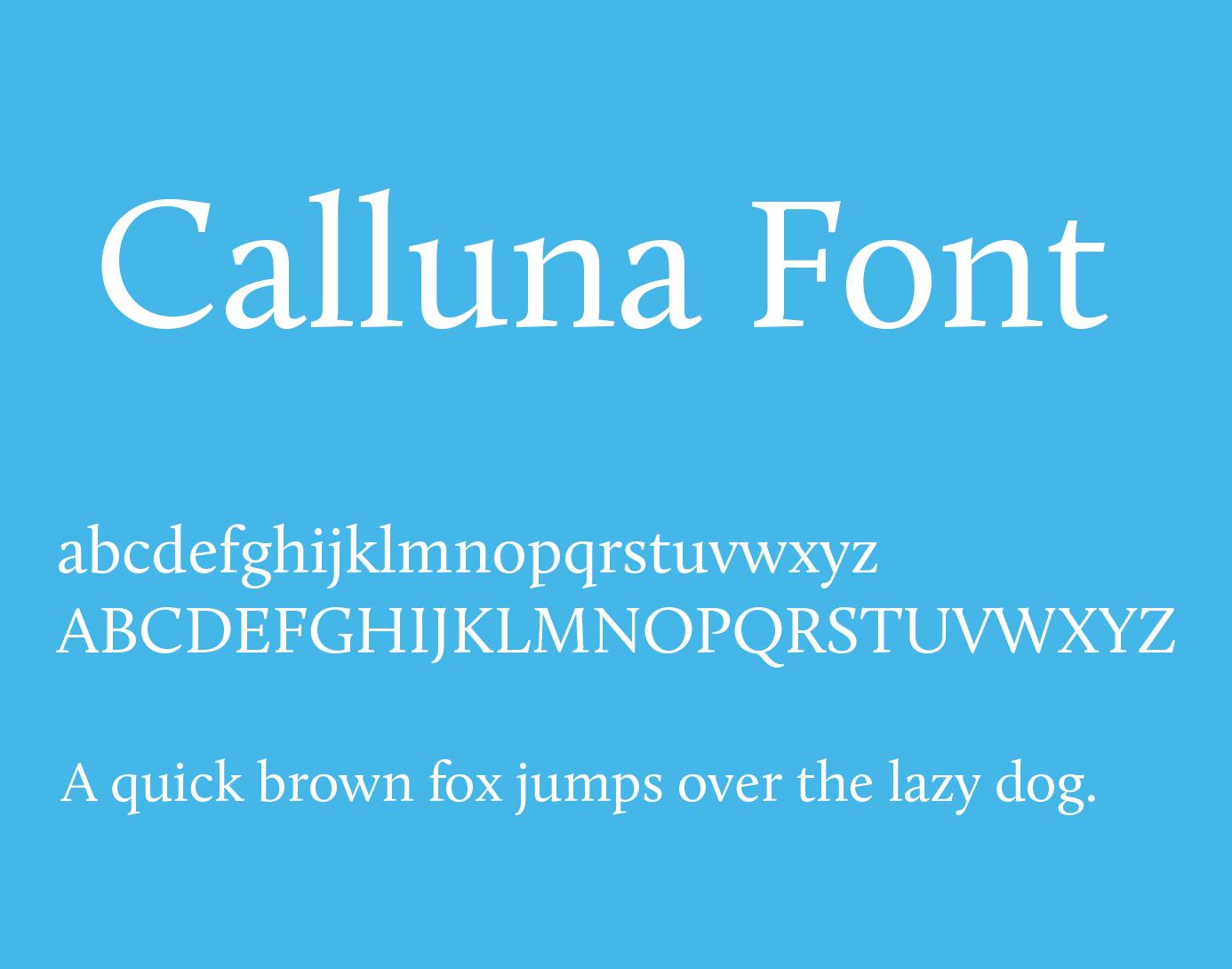 calluna-font