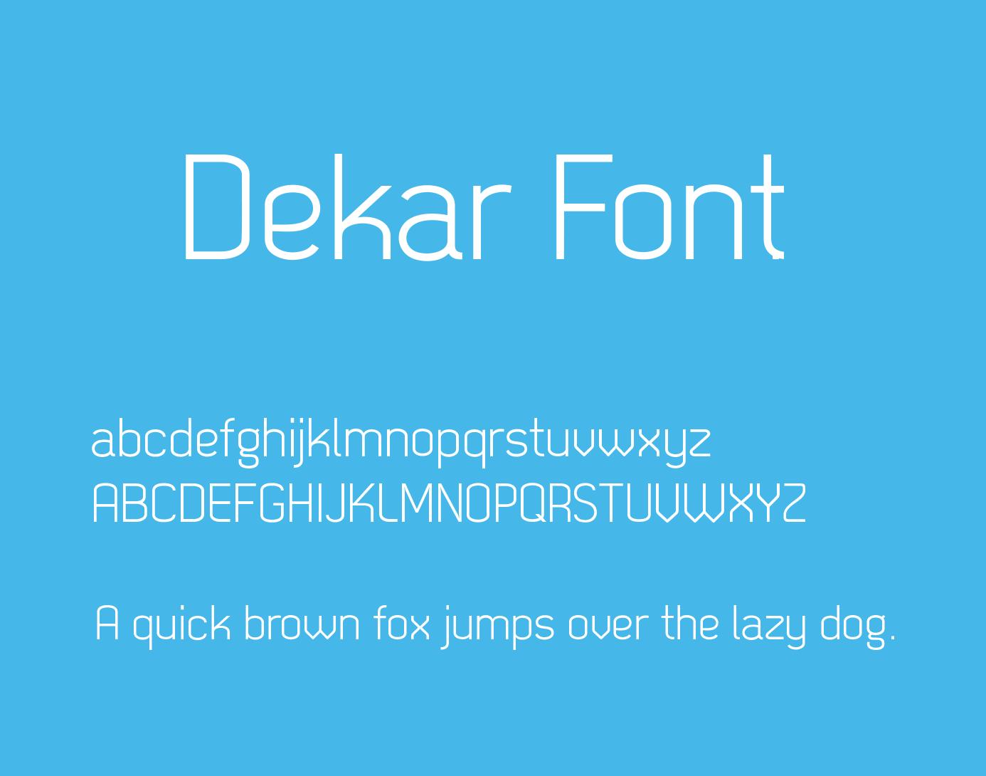 dekar-font