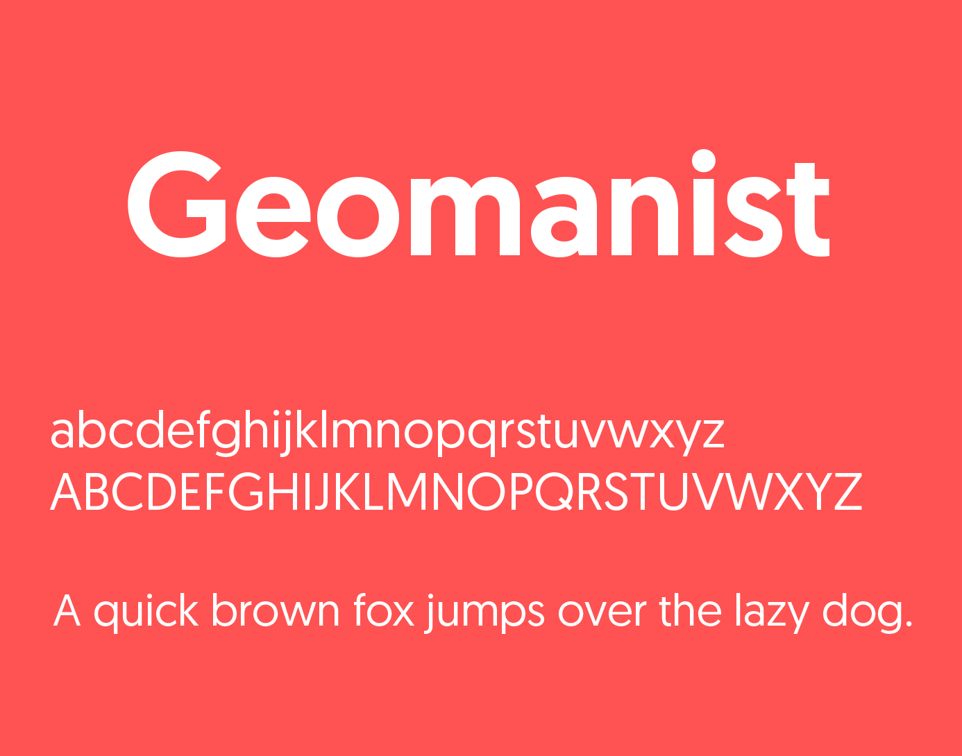 Geomanist Font Free Download