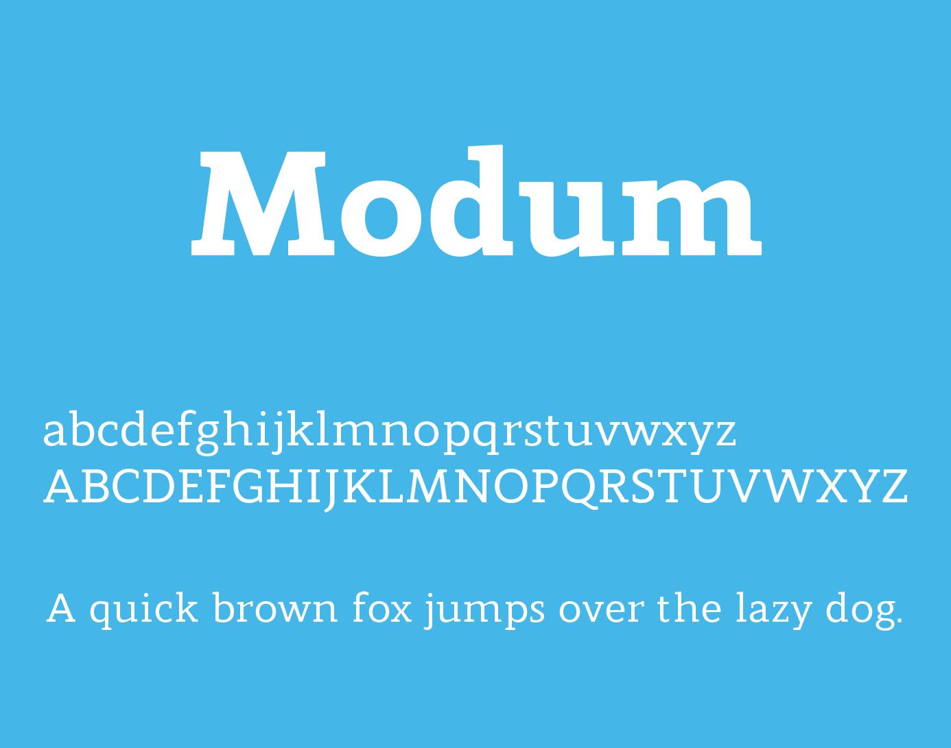 modum-font