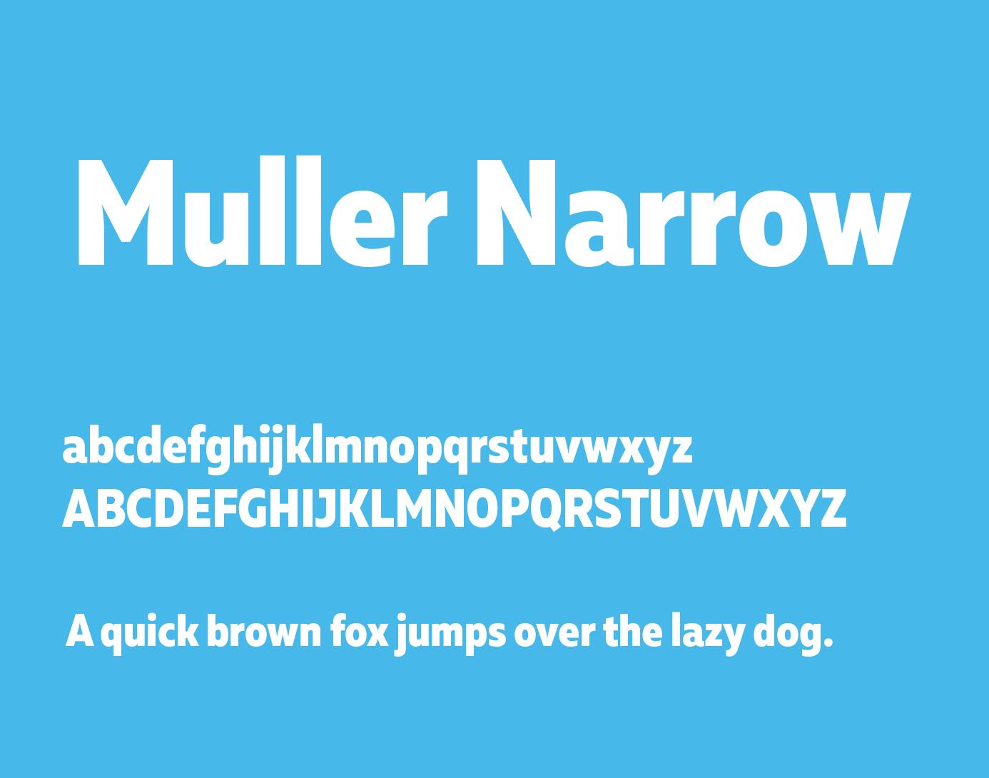 muller-narrow-font
