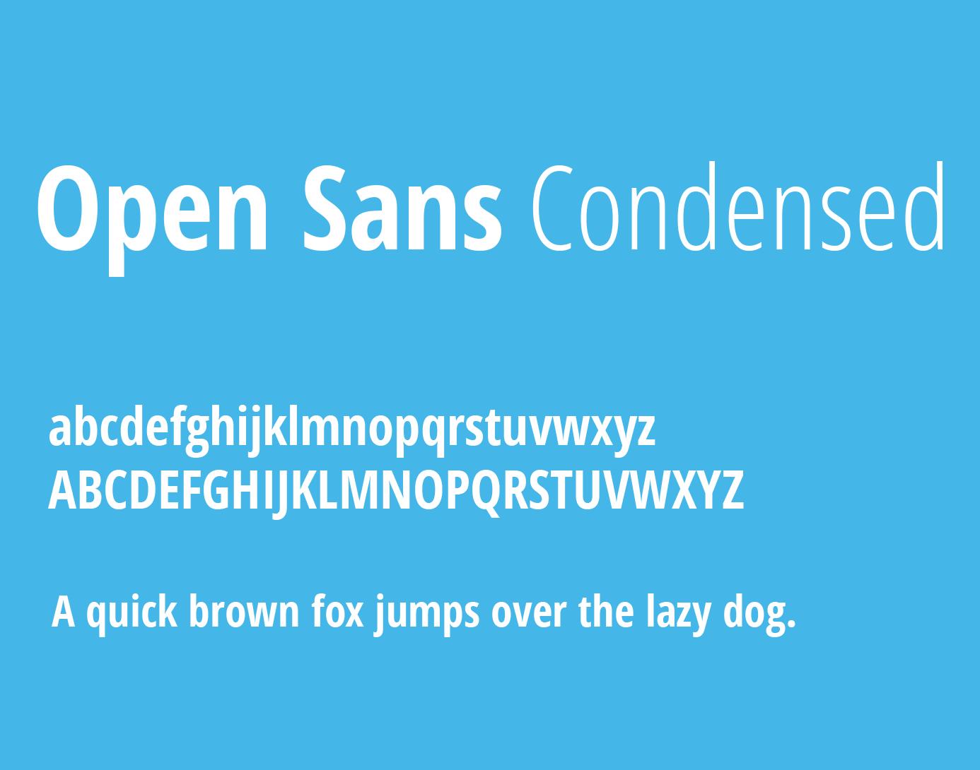 Open Sans Condensed Font Family Free Download
