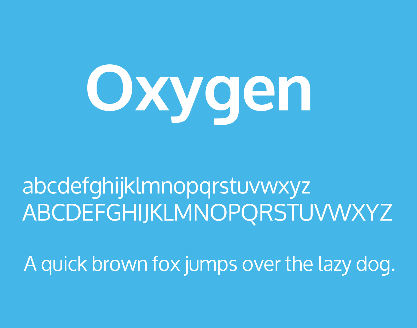 Oxygen Font Family Free Download