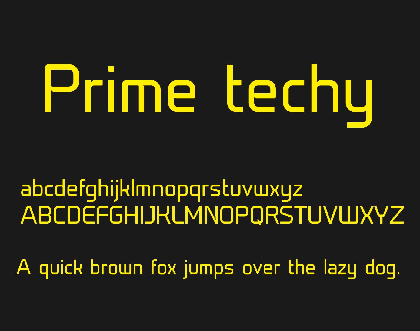 prime-techy-font