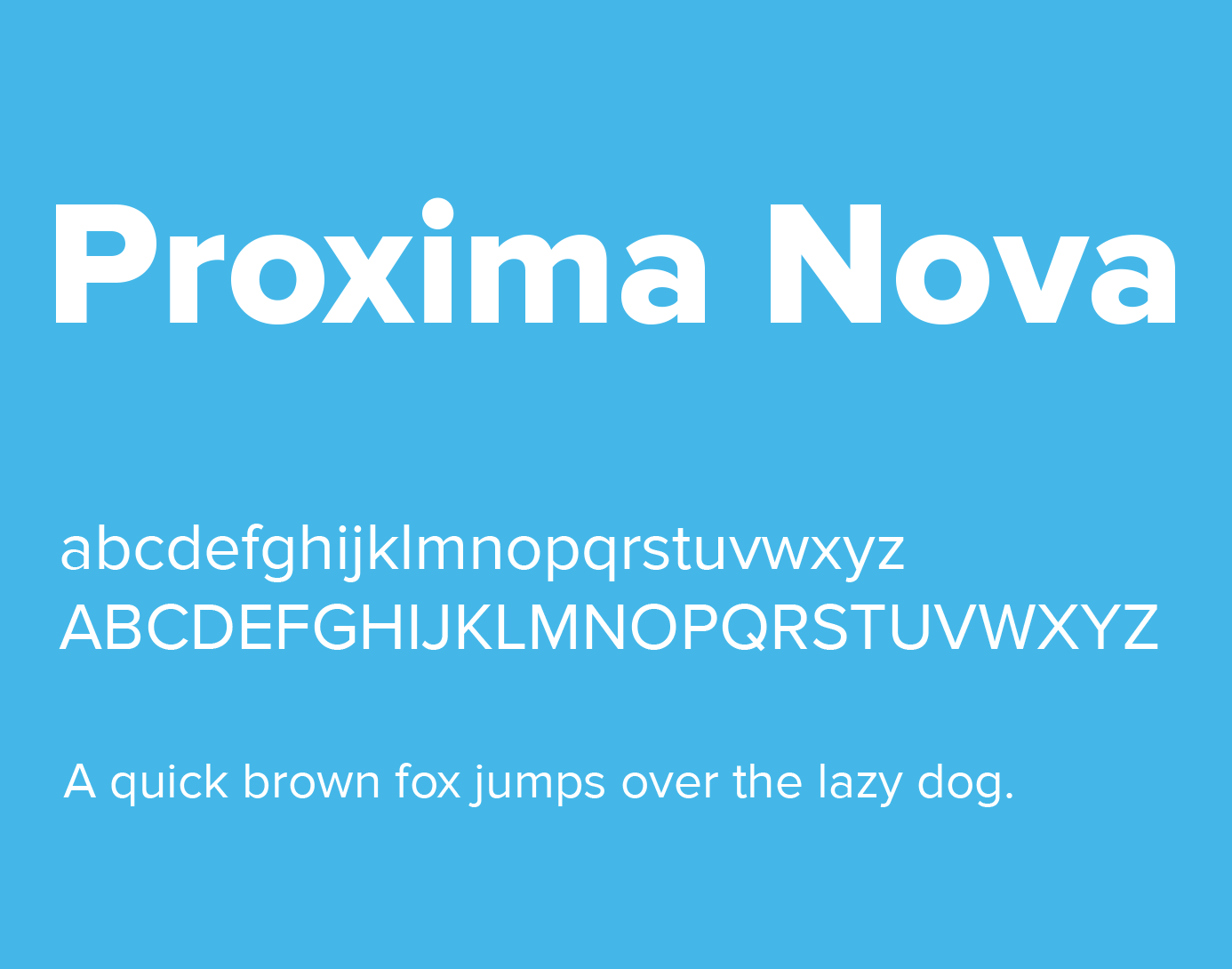 Proxima Nova Font Family Free Download