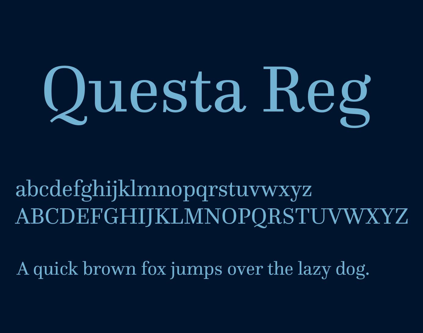 Fontspring | similar fonts to questa complete.