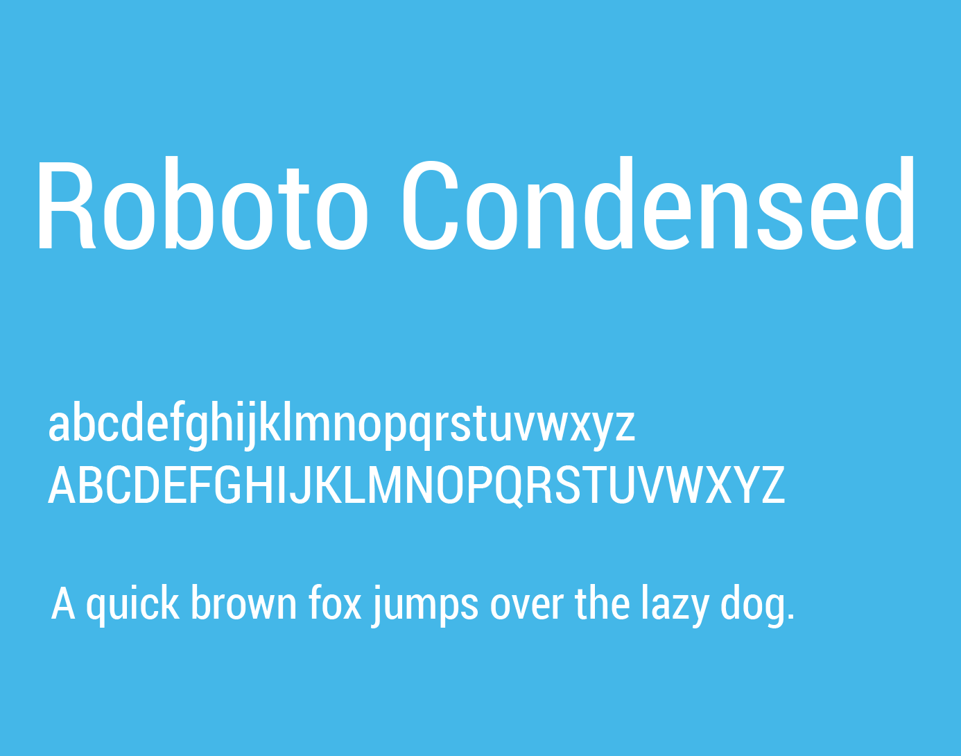 Roboto Condensed Font Free Download