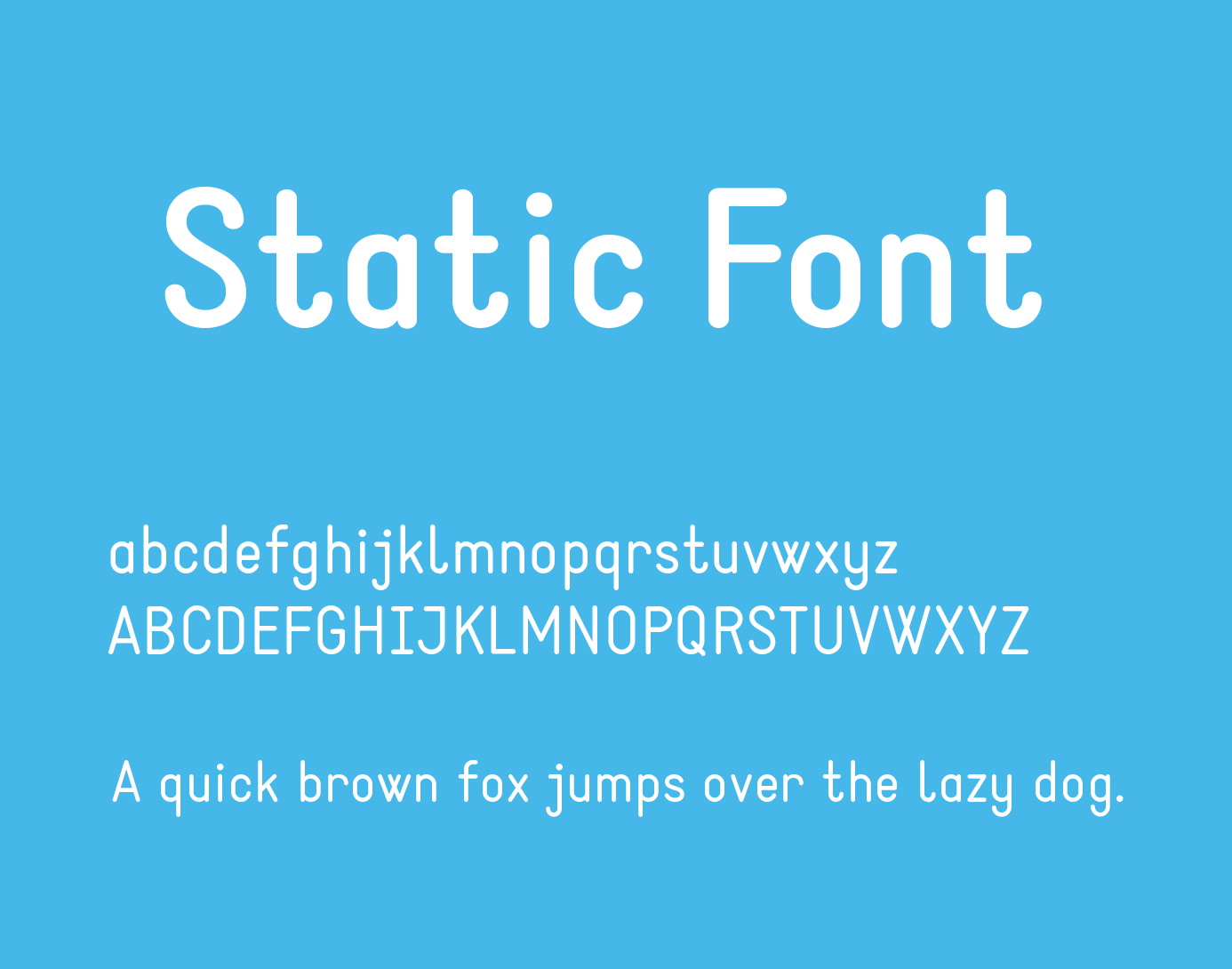 Static Font Free Download