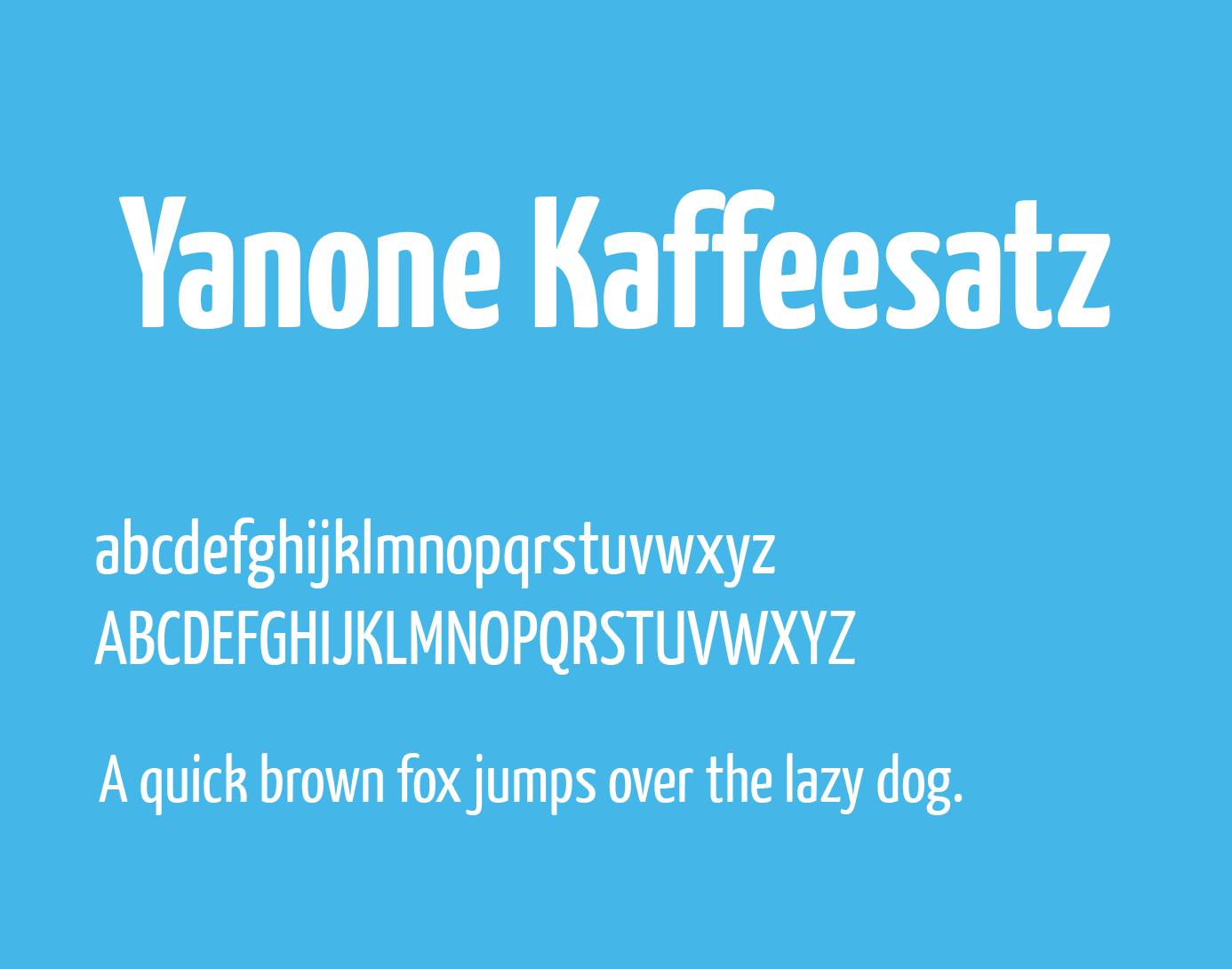 yanone-kaffeesatz