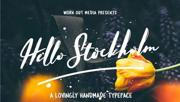 Hello Stockholm – Handmade Typeface