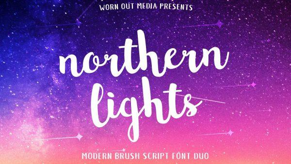 Northern Lights Brush Script Font