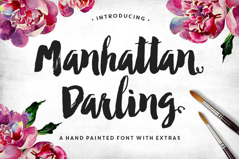 Manhattan Darling Typeface + BONUS