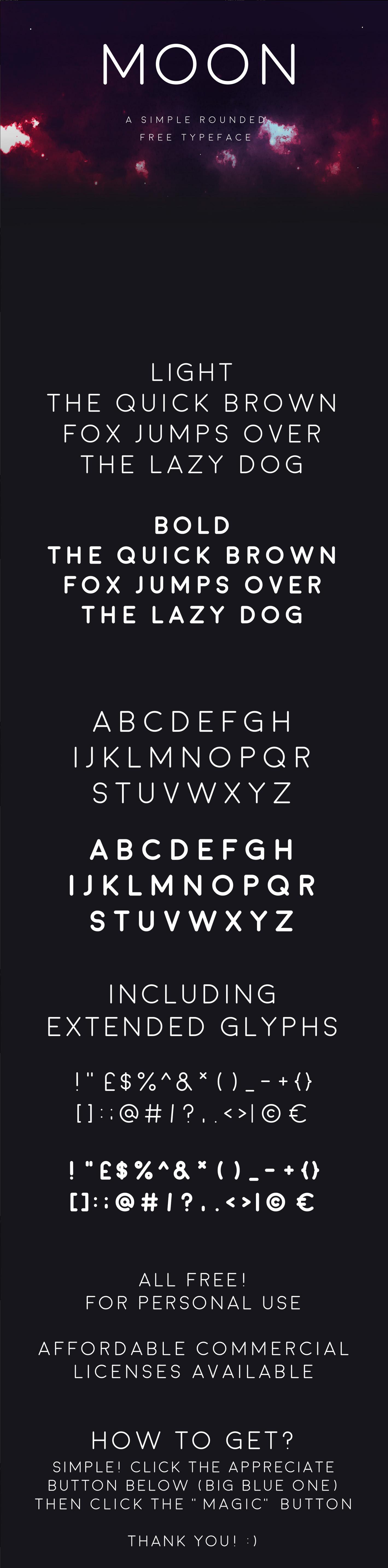 Moon free premium typeface