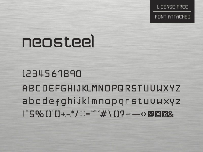Neosteel - Modern Font Free - Free Fonts