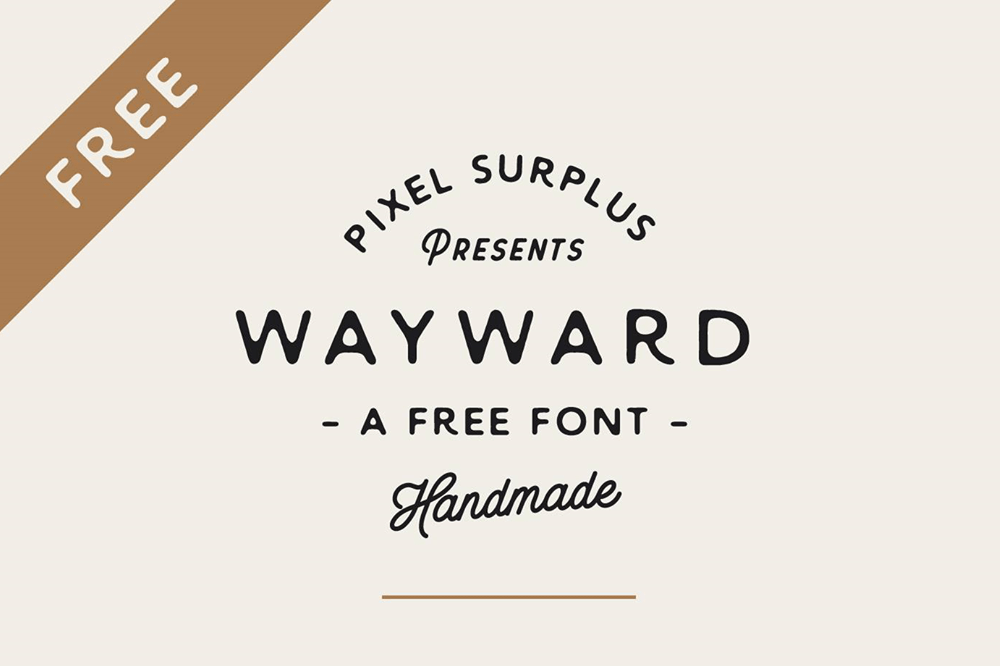 wayward free handletter font