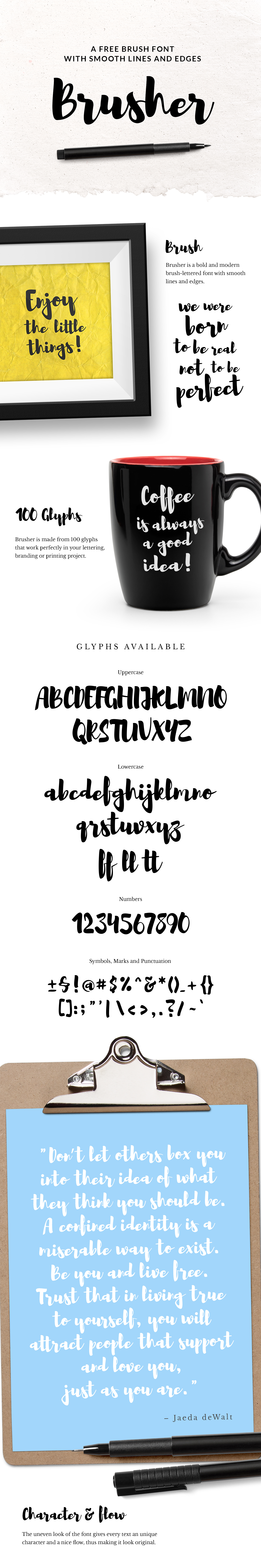brusher typeface full