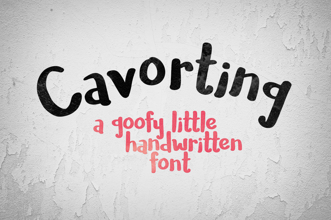 Cavorting free handwritten font free fonts