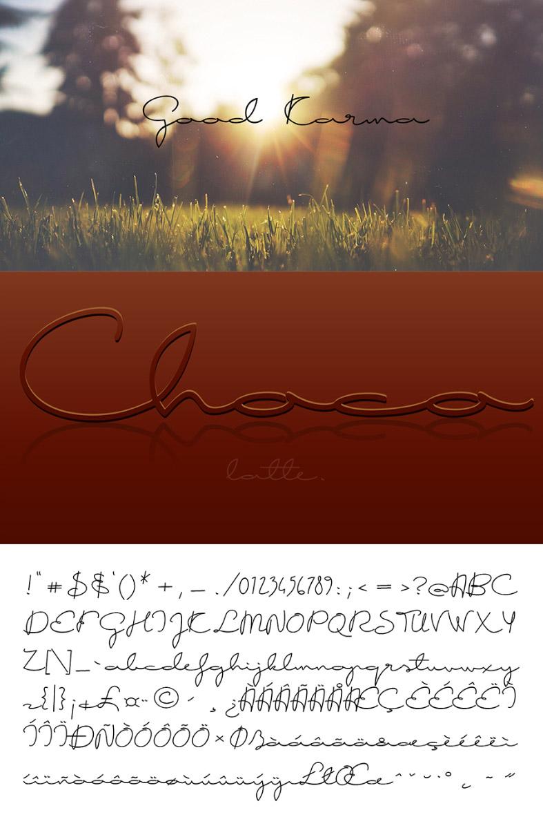Good Karma Free Handwritten Font - Free Fonts