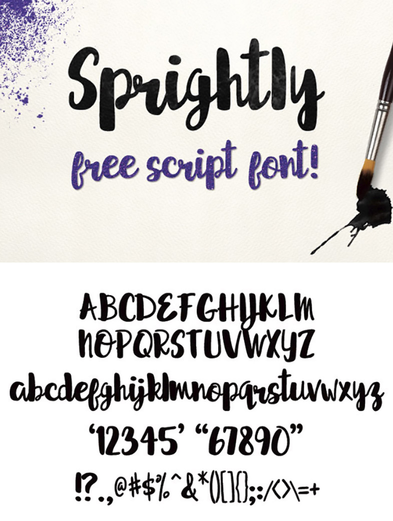 Sprightly - Free Script Font