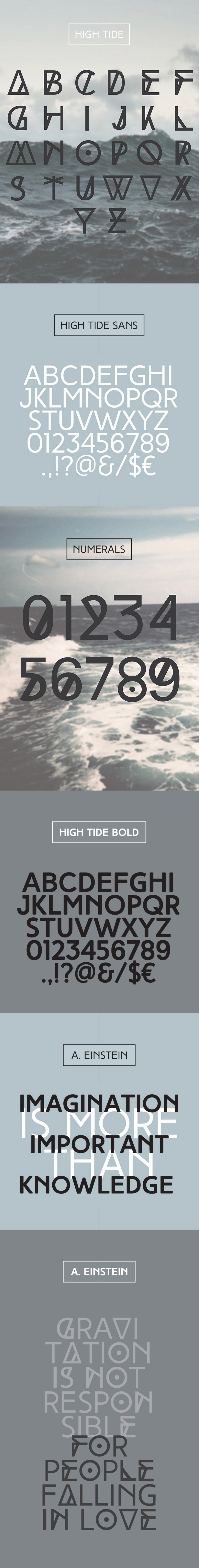 High Tide free fonts