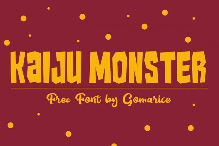 Kaiju Monster Free Font