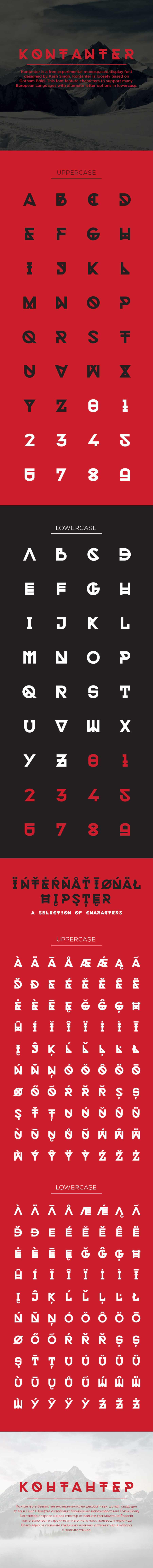 Kontanter free font - Fontfabric
