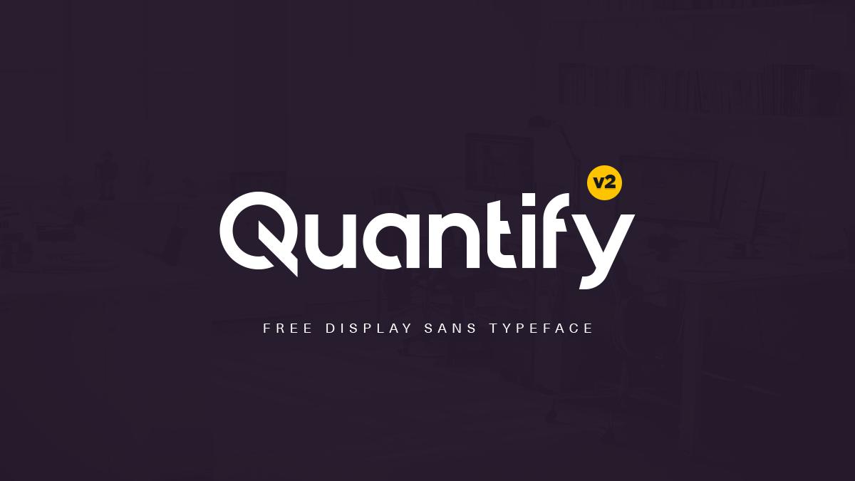 Quantify Free Font - Free Fonts Quantiamd Logo