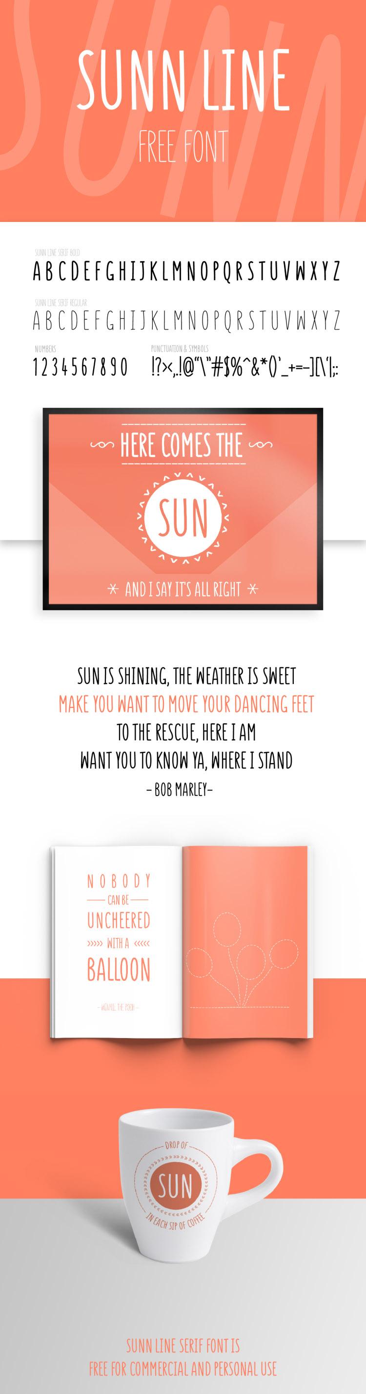 SUNN Line Free Font