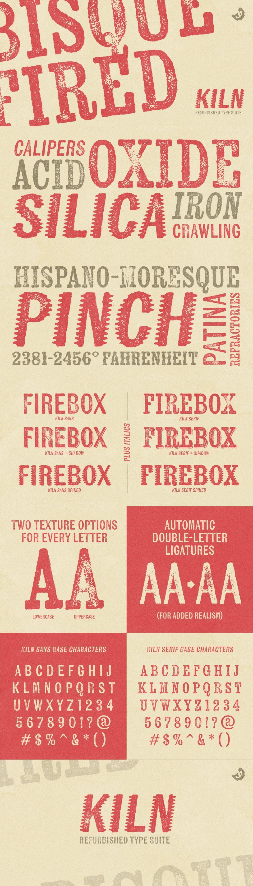 Kiln Free Font  Free Fonts
