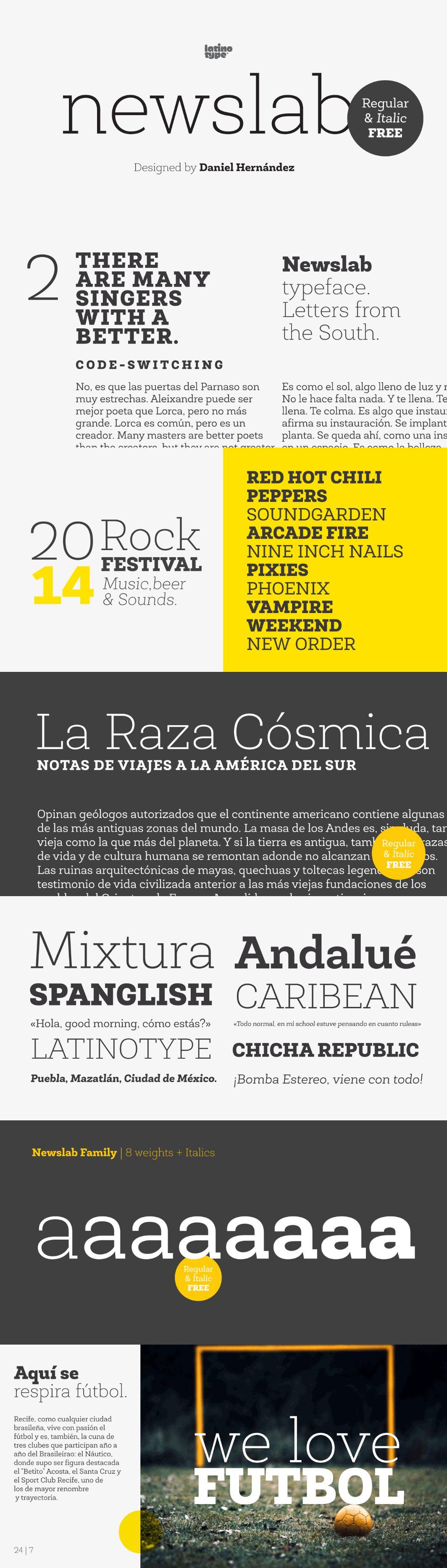newslab font