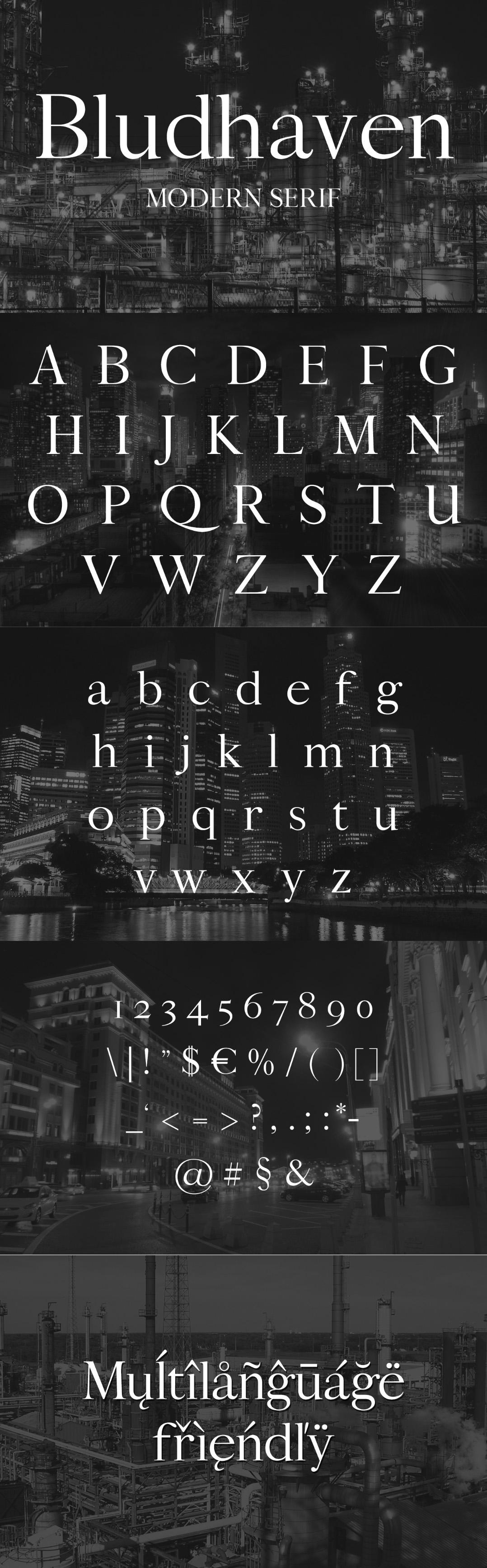 Bludhaven font