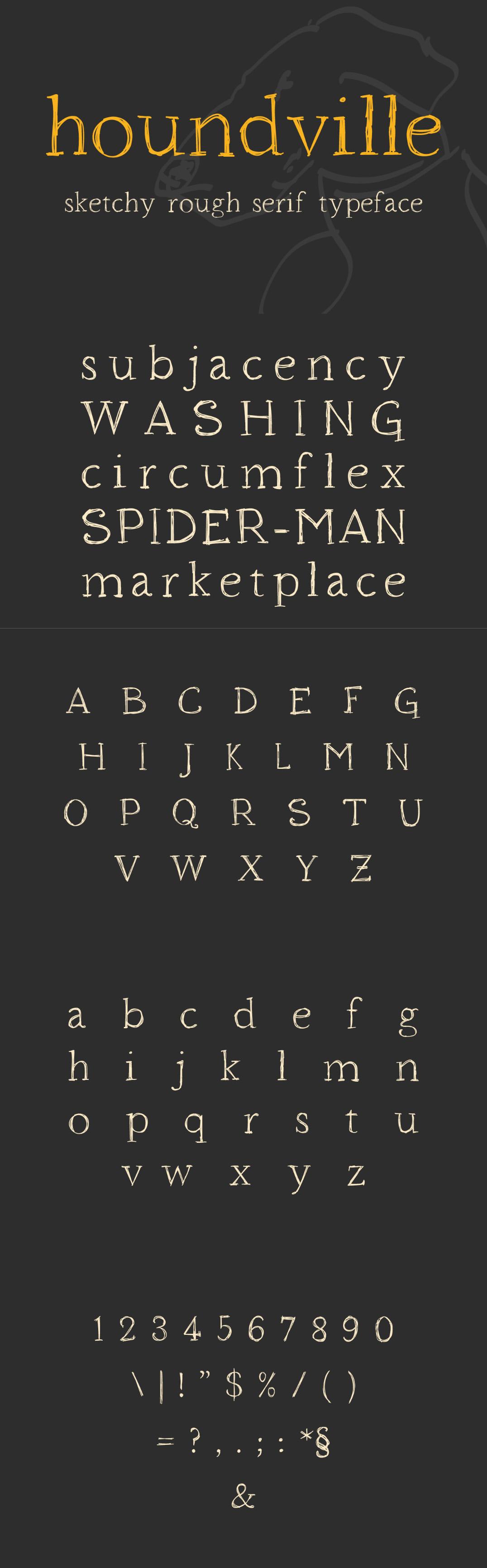 Houndville Font typeface