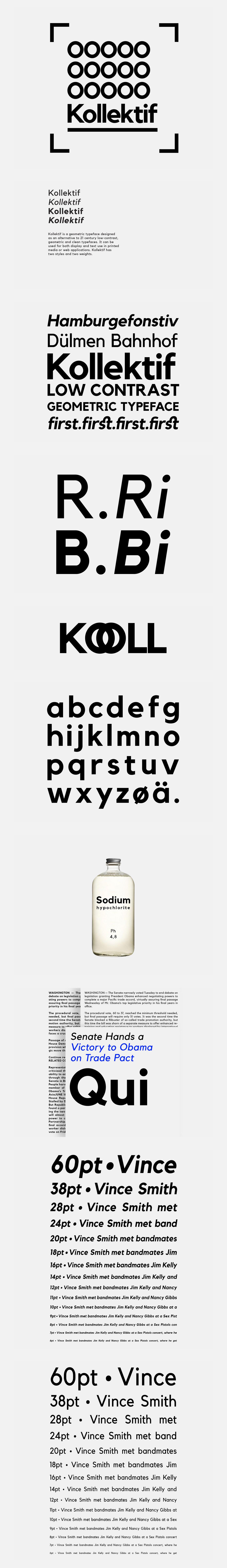 Kollektif Typeface I Free on Behance