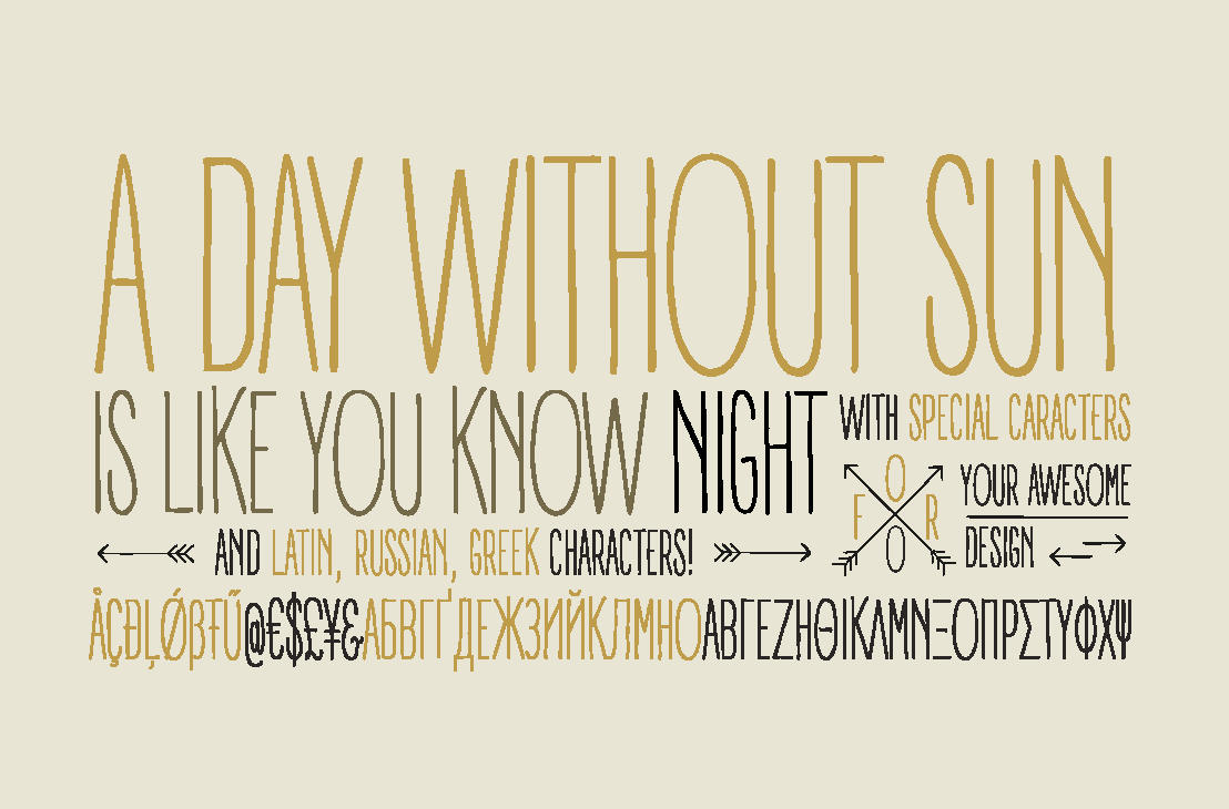 a day without sun font