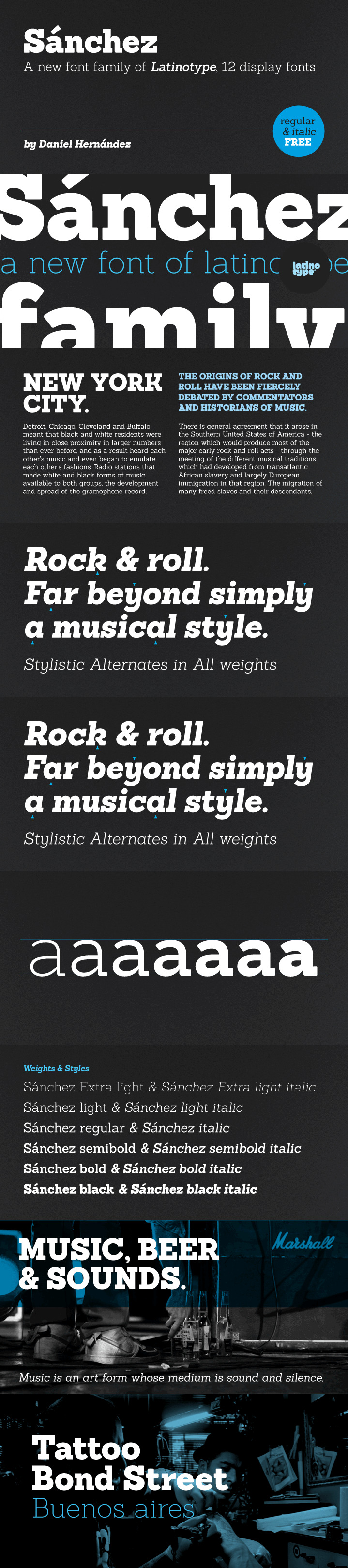 sanchez free font