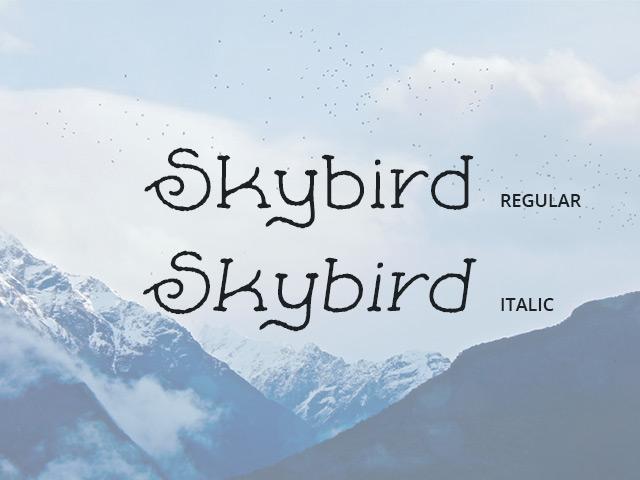 skybird-free-font-rough