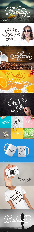 freeday font full image