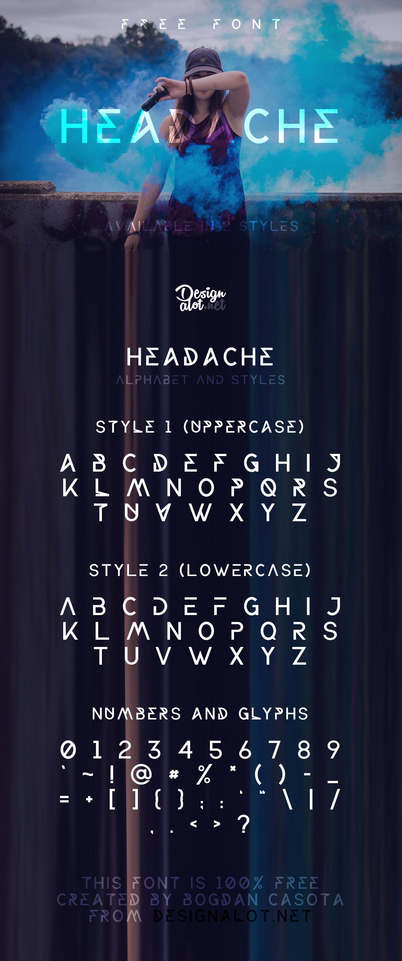 Headache Font Free