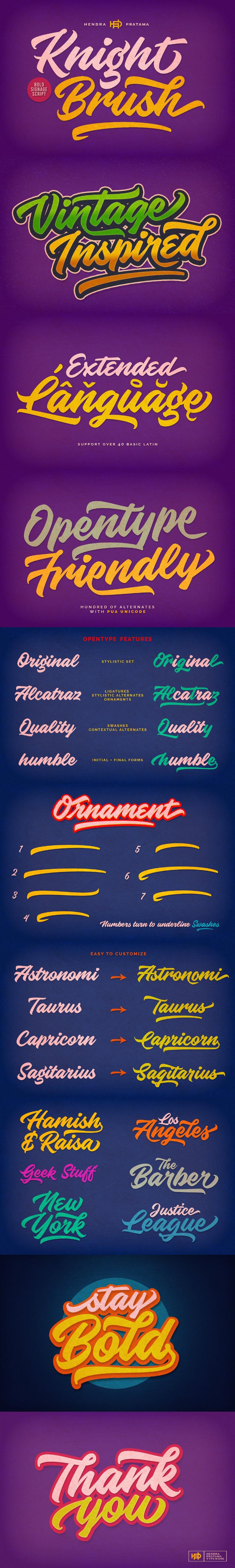 knight brush font